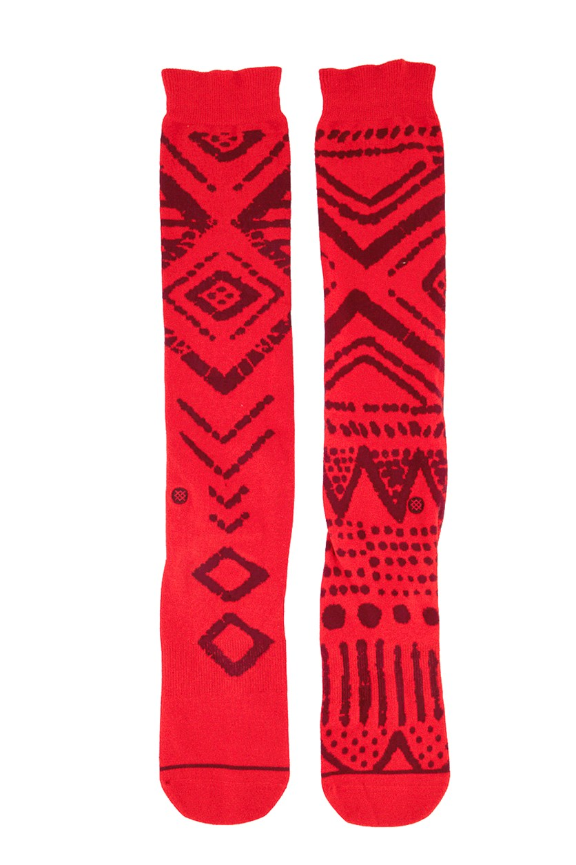 Men's Tribal Socks, Red