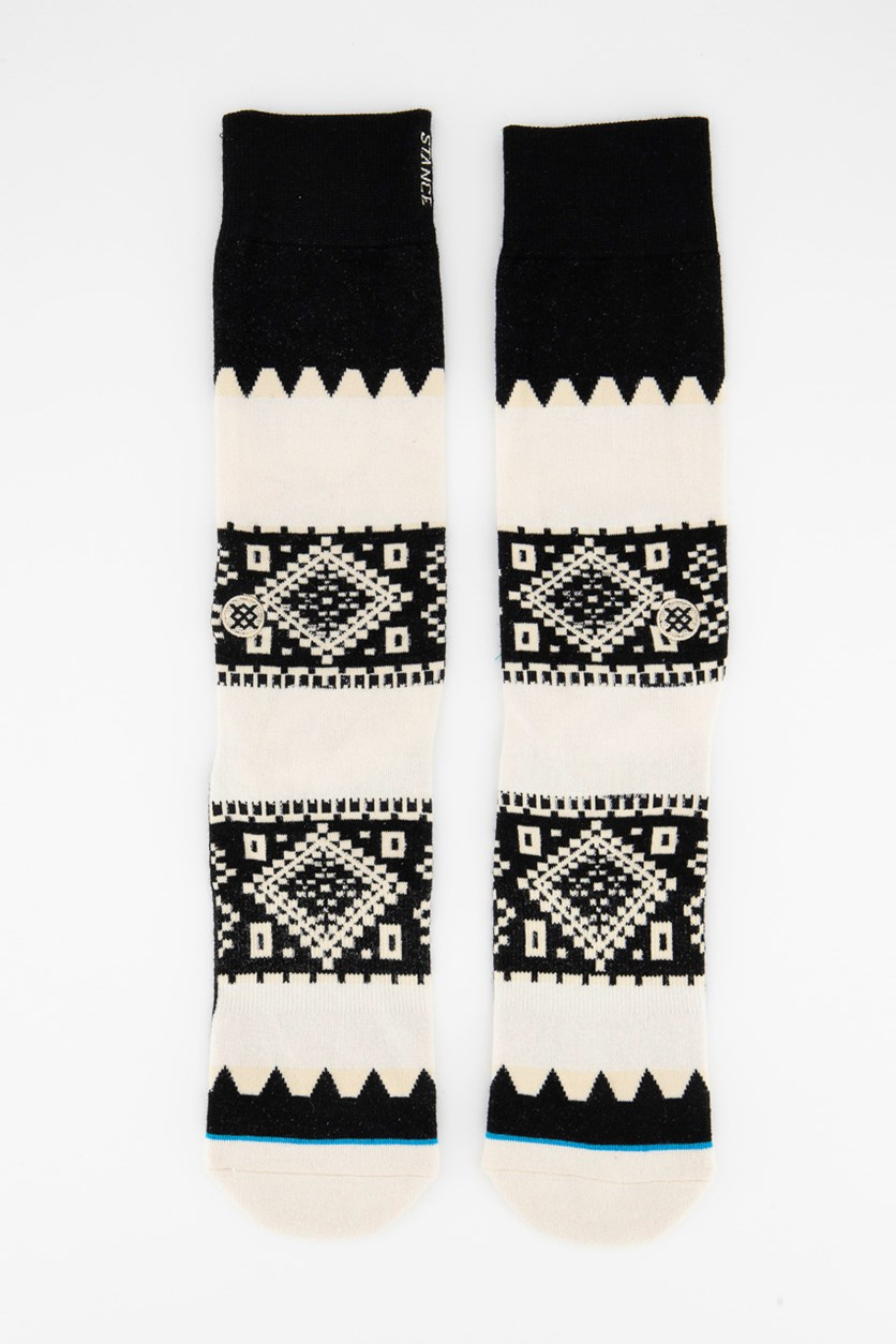 Men's Buckland Socks, Cream/Black