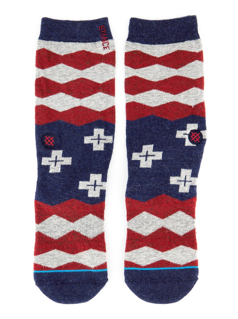 Boy's Nations Socks, Black/Red Combo
