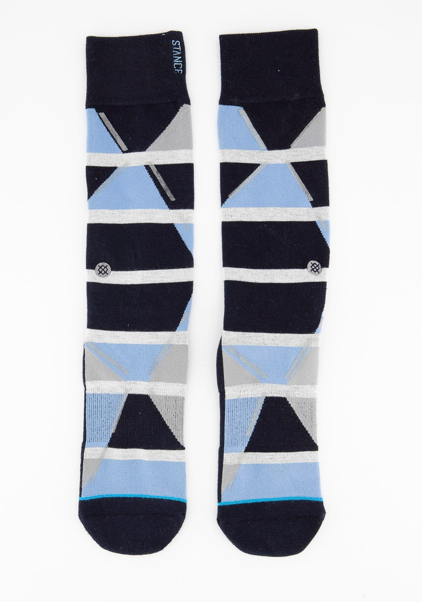 Men's Casual Crew Socks, Navy/Blue