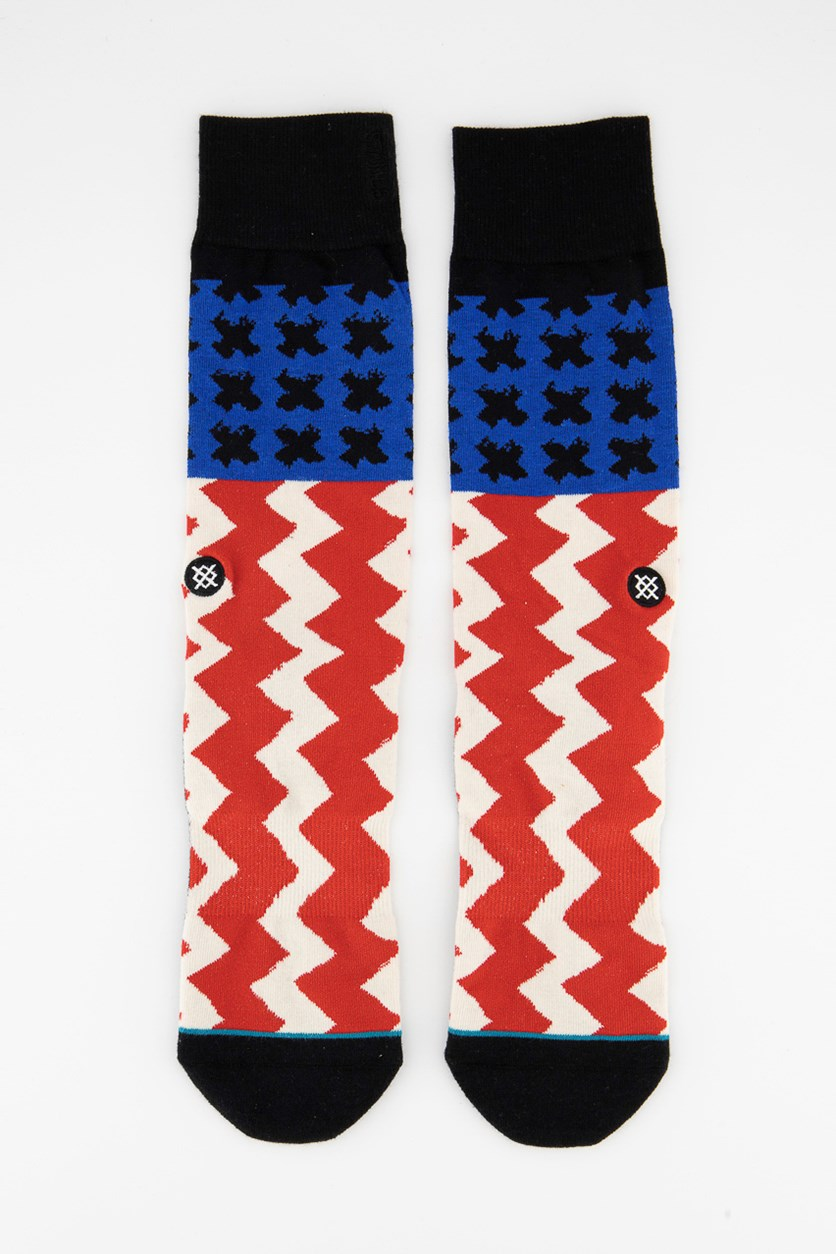 Men's Stereo Crew Socks, Off White