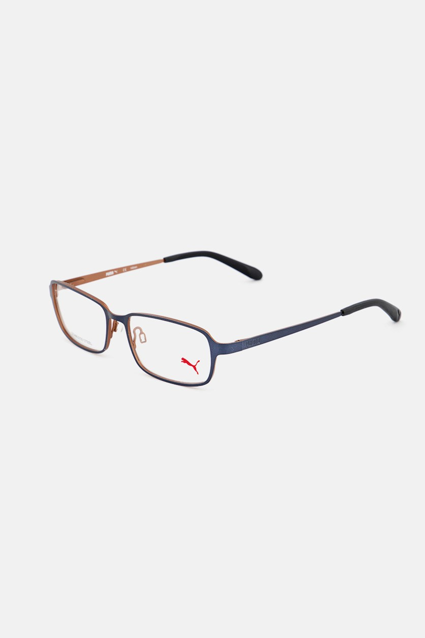 Men's PU15412 Full Rim Eyeglasses Frame, Black/Navy/Brown