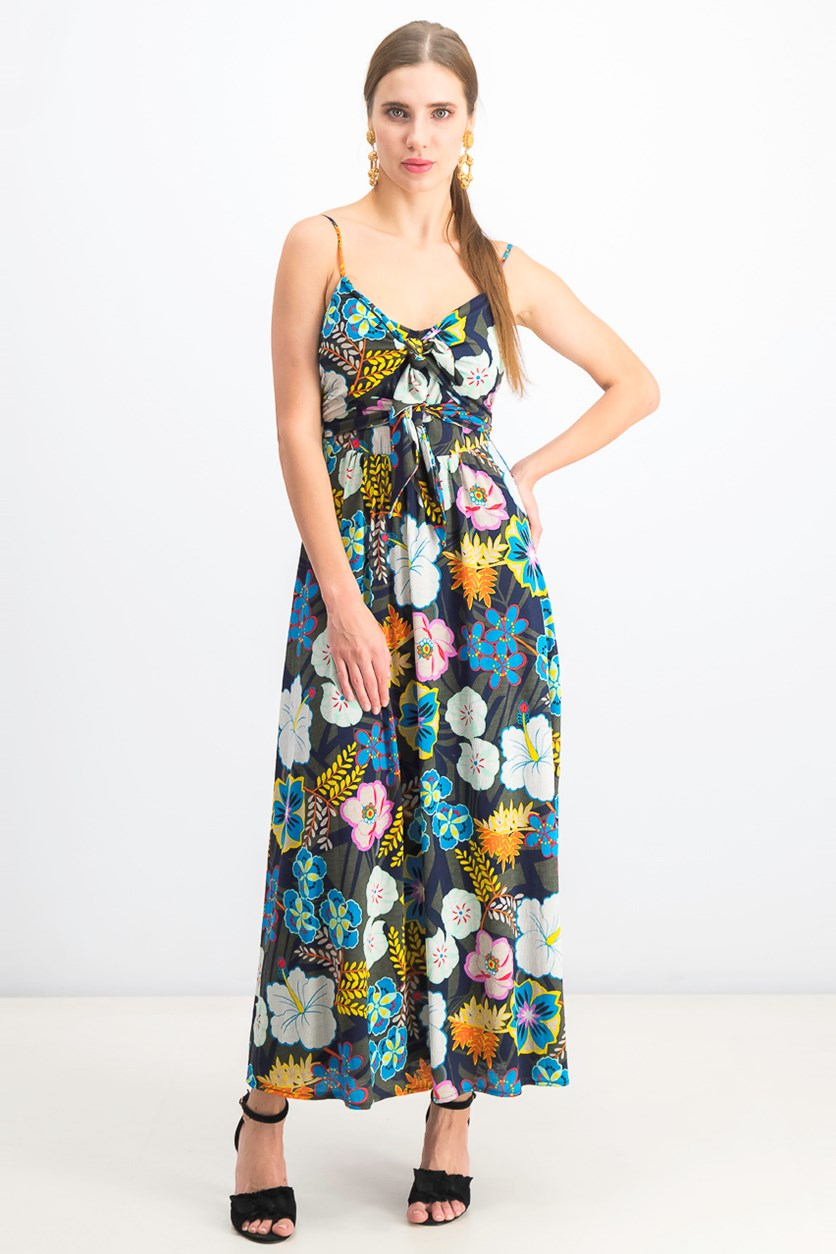 Women's Magnolia Double-Tie Maxi Dress, Navy Combo