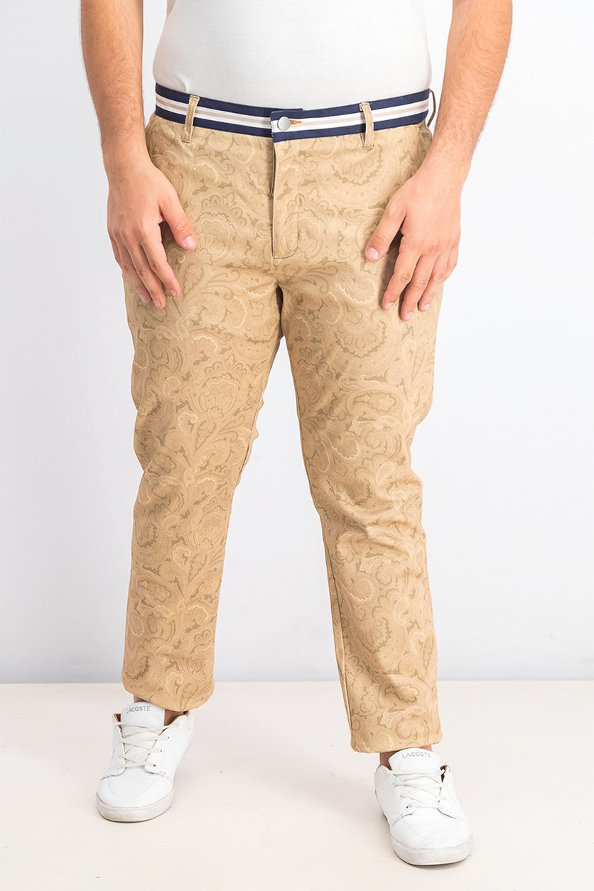 Men's Straight-Fit Stretch Paisley Pants, Ginger