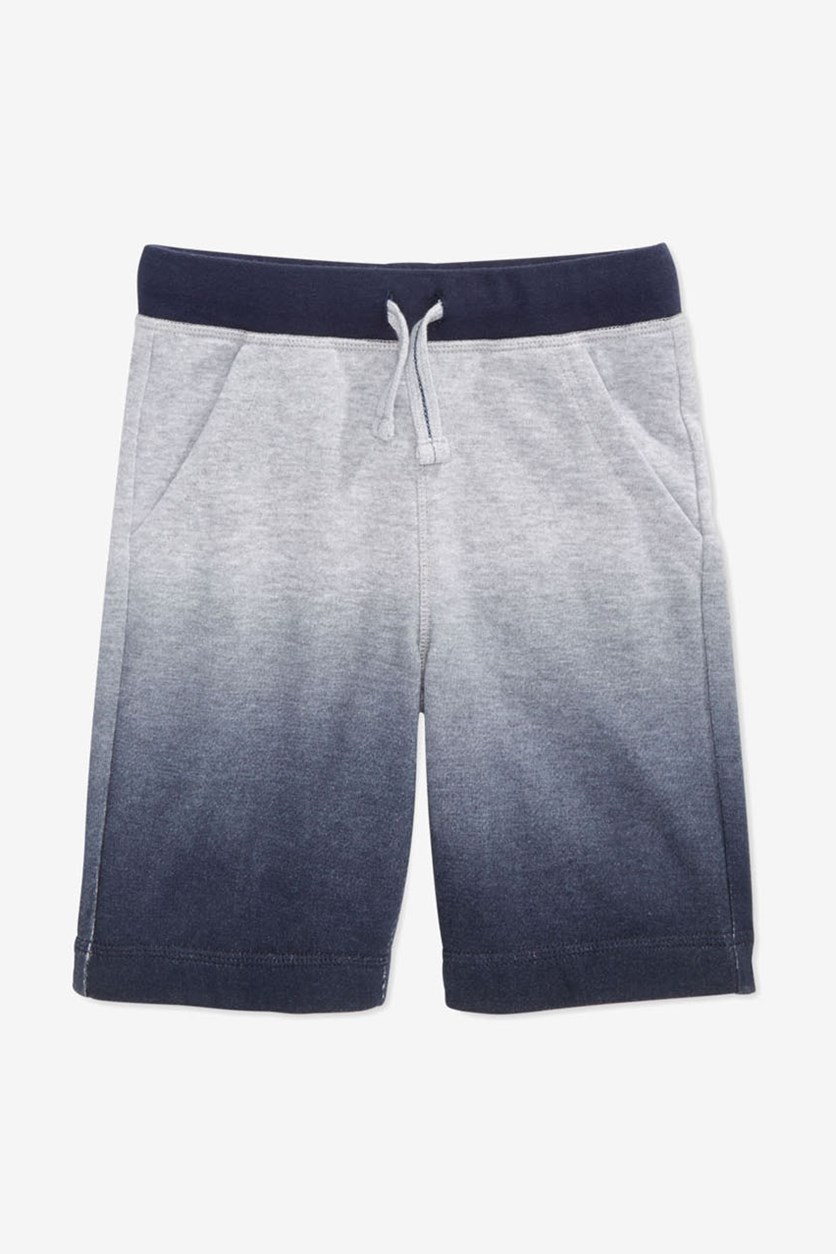 Toddler Boys Ombre Shorts, Light Grey Heather