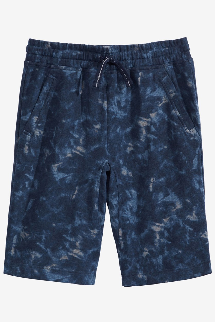 Big Boys Tie-Dye Knit Shorts, Denim Blue