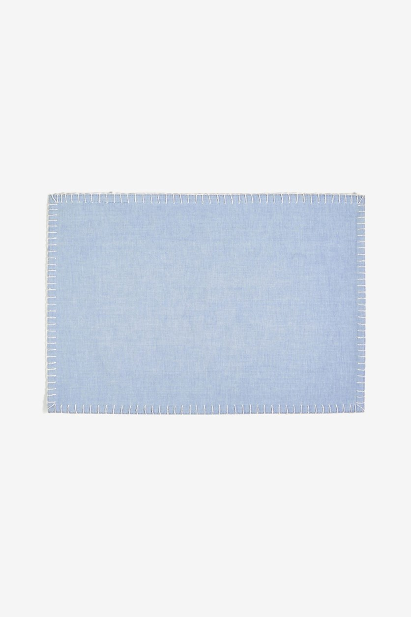 Chambray Placemat, Gray/Blue