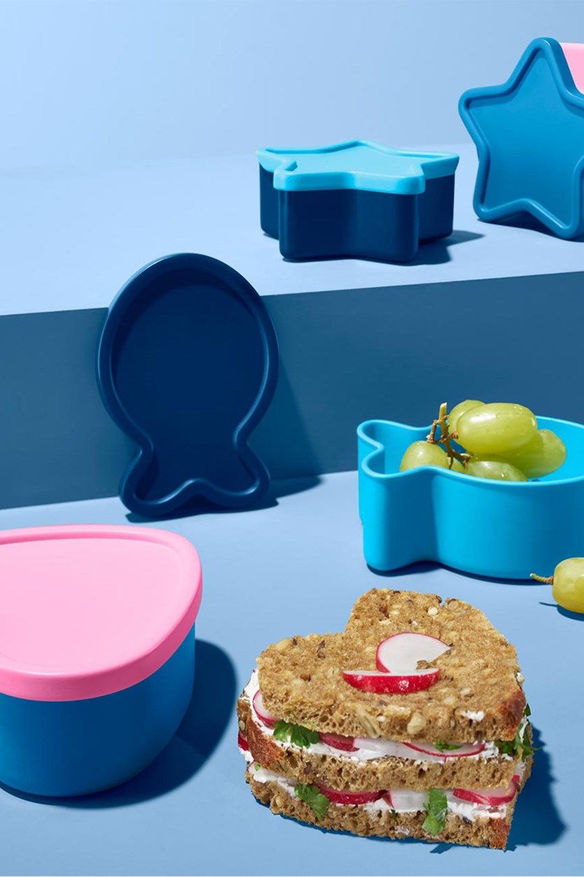 Kids 4 Set Snackbox, Blue/Pink