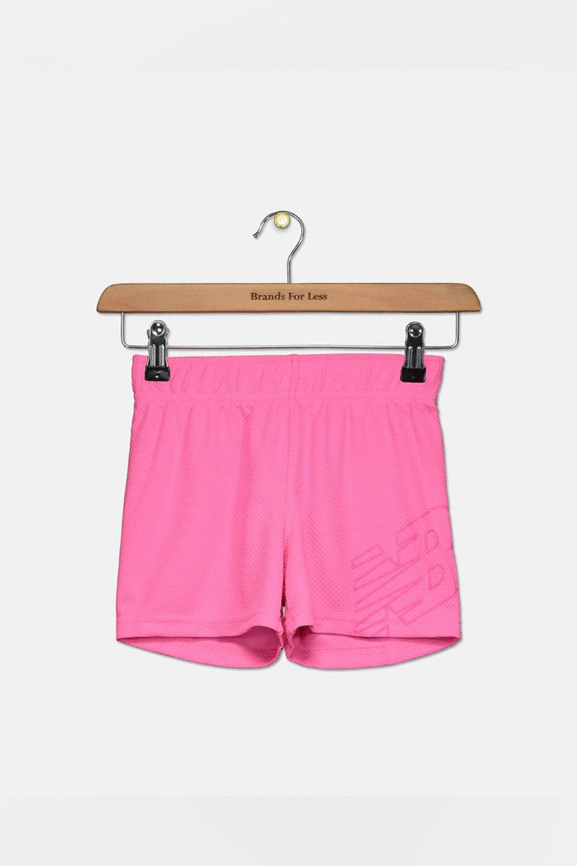 Big Girl's Core Shorts, Neon Pink