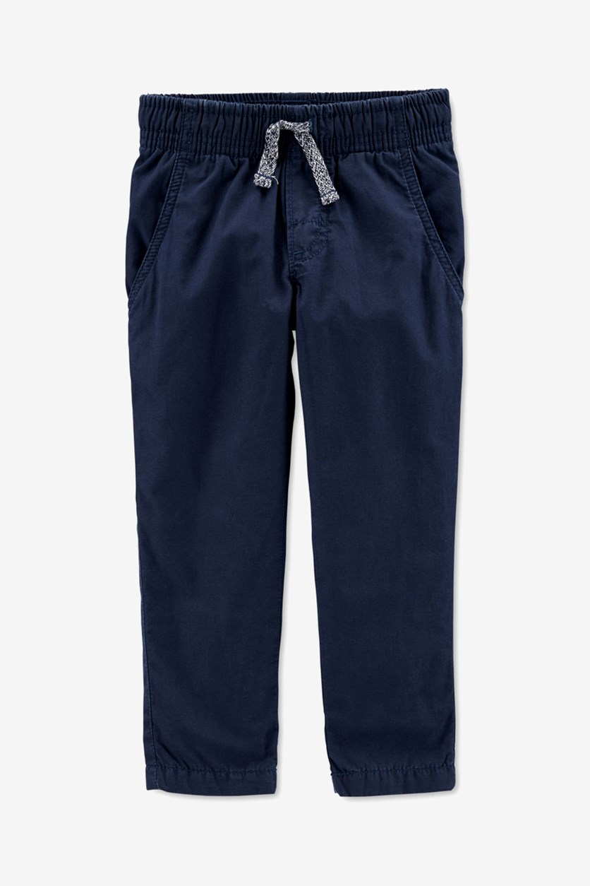 Baby Boys Jersey-Lined Pants, Navy