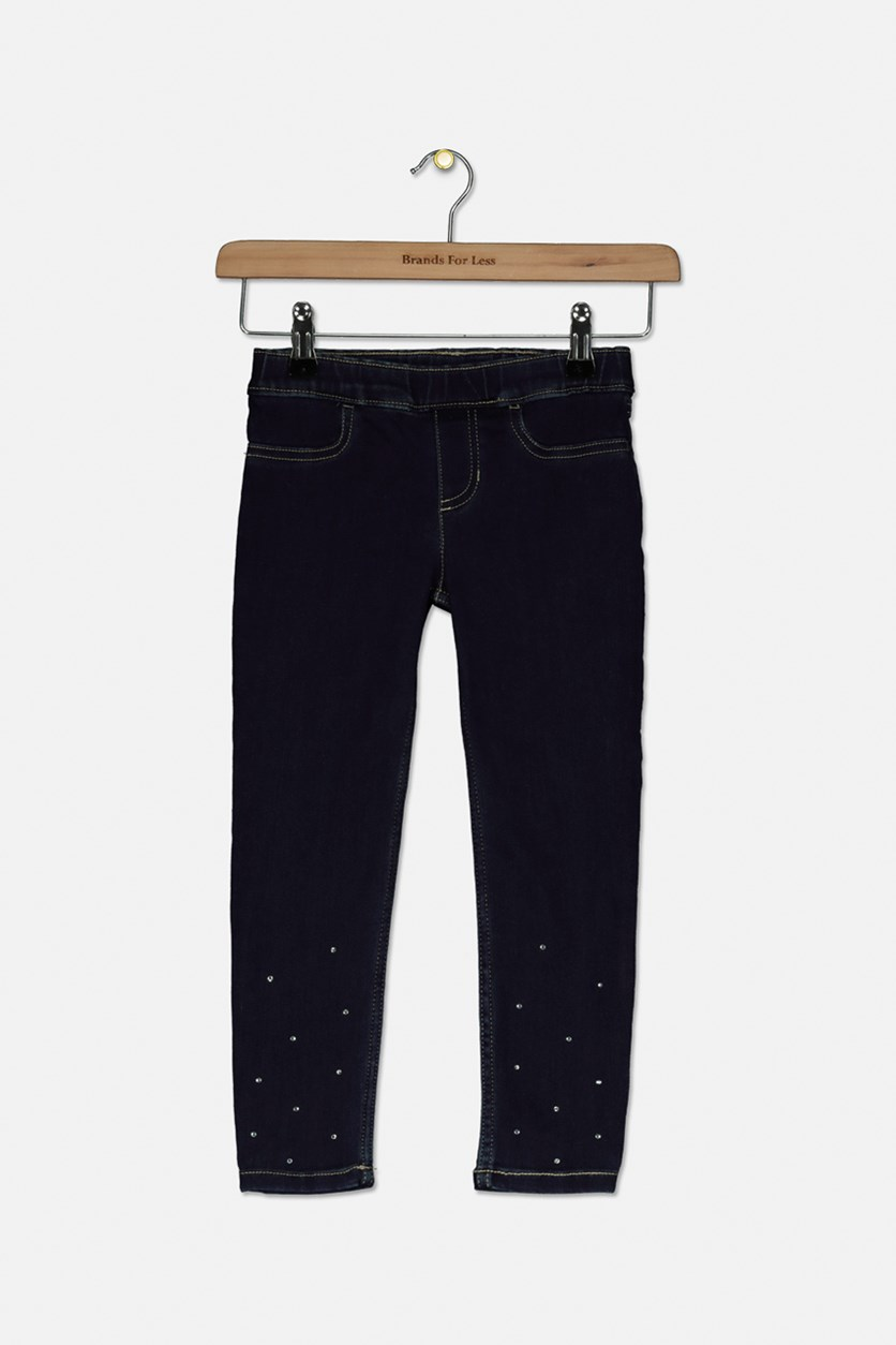Big Girls Embellished Jegging Pants, Navy