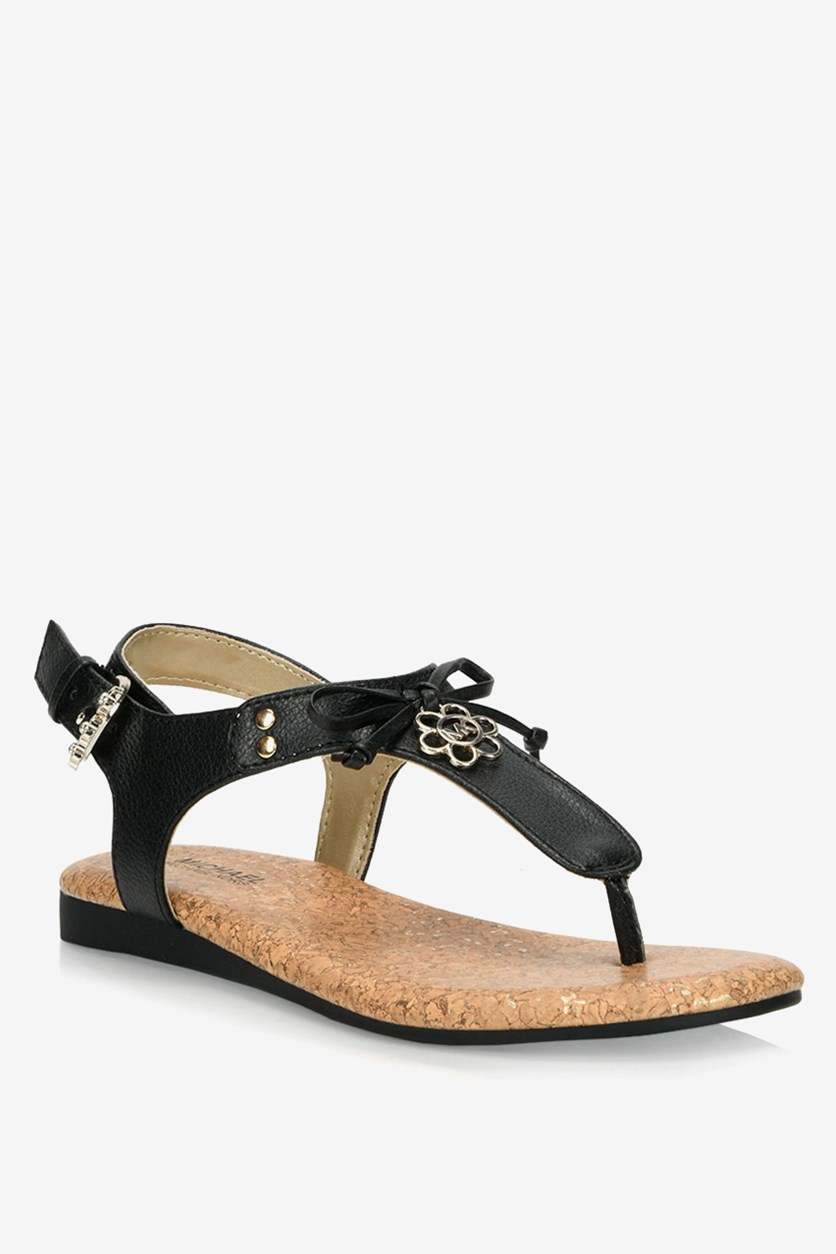 Girl's Tilly Flora Stappy Sandals, Black