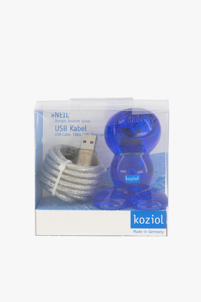 Neil Usb Cable Holder, Blue