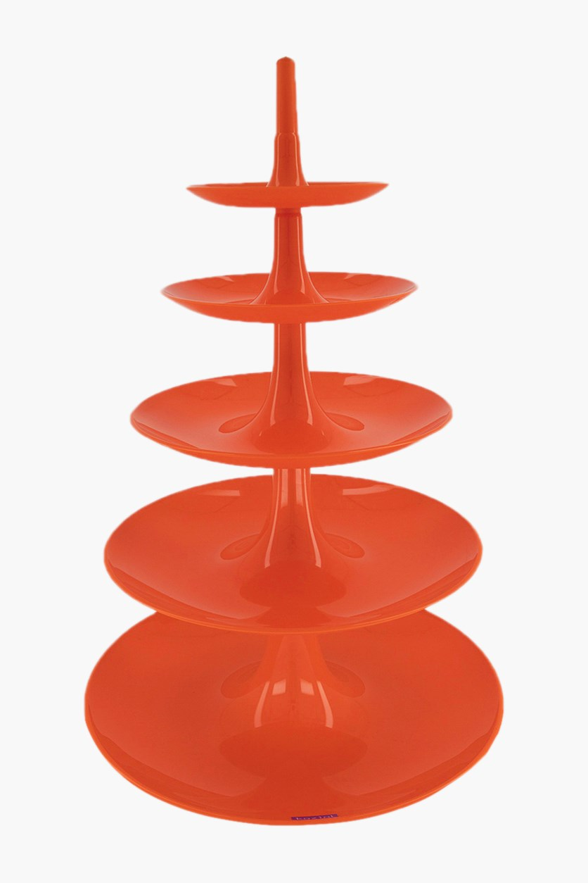 Babell Big Serving Stand, Orange/Red