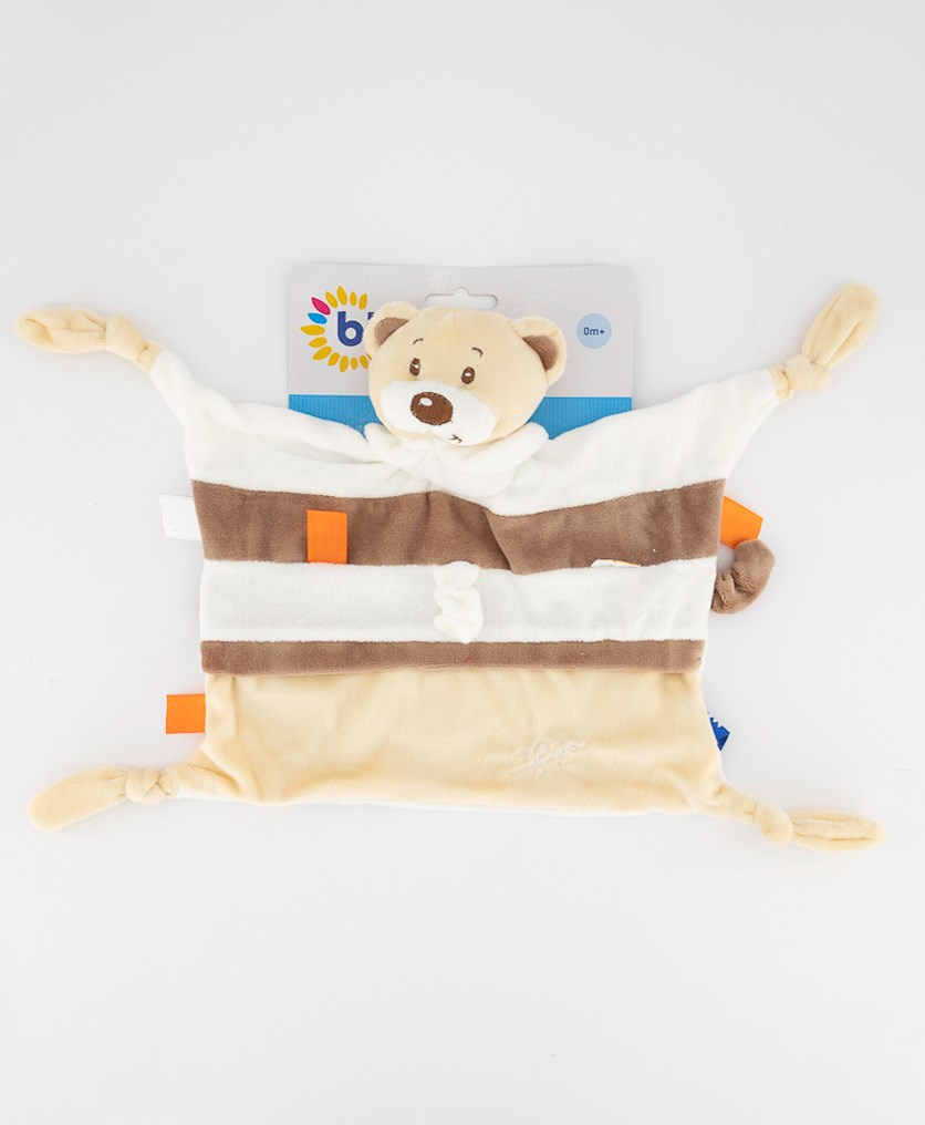 Crawling Mat With Play Arc Bear Design, Beige Combo