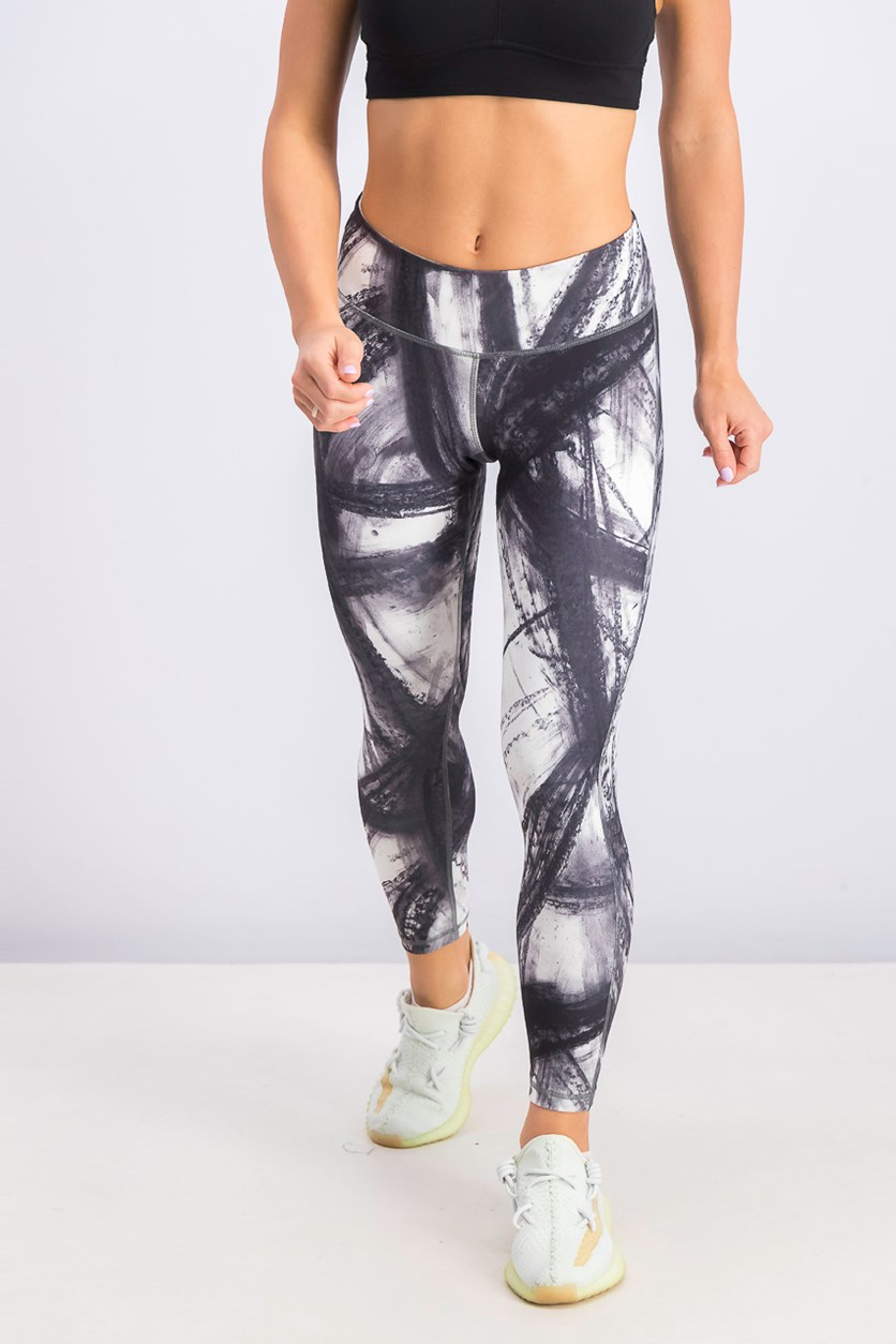 Women's Lux Bold 7/8 Tight, Black/White