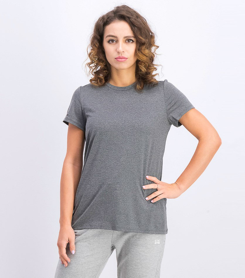 Women's Short Sleeve Easy Tee, Dark Grey Heather