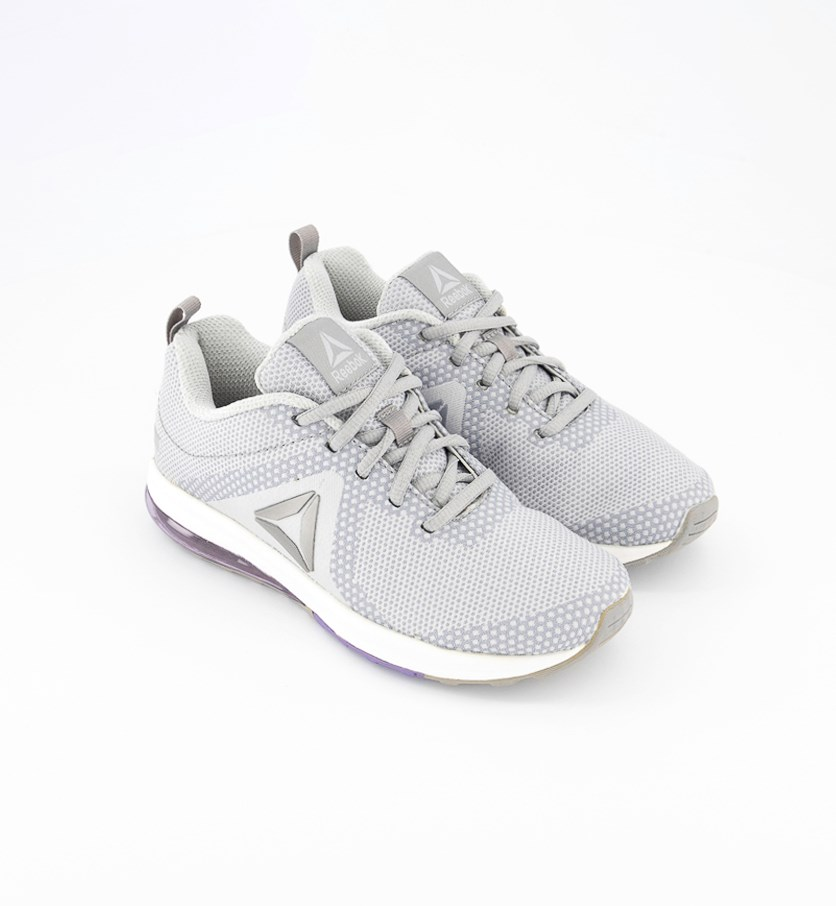 Women Sneakers Running Shoes, Grey/White/Silver