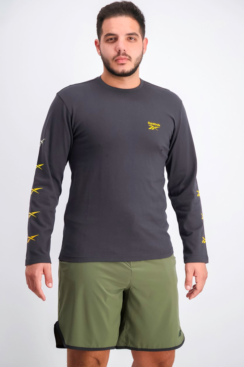 Mens Long Sleeve Sweater, Coal