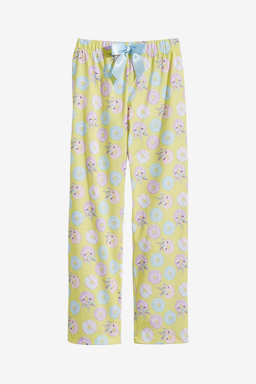 Big Girls Printed Pajama Pants, Yellow