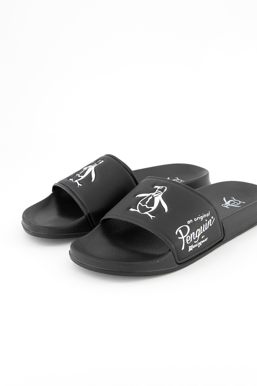 Passer Sliders Slip on Sandals, Black