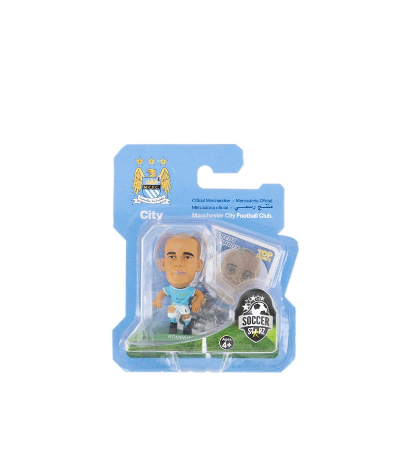 Manchester City FC Vincent Kompany Action Figure, Blue/White