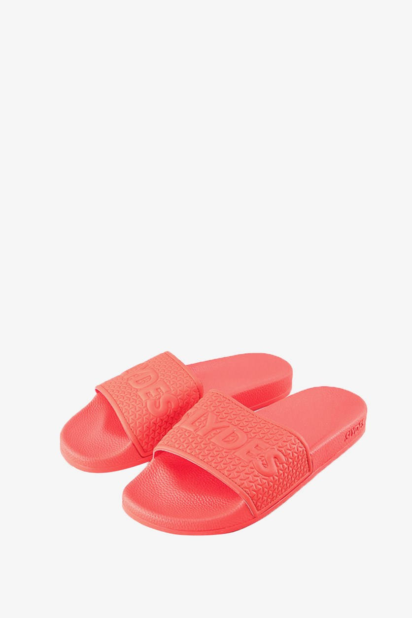 Men's Cali Textured Slides, Red