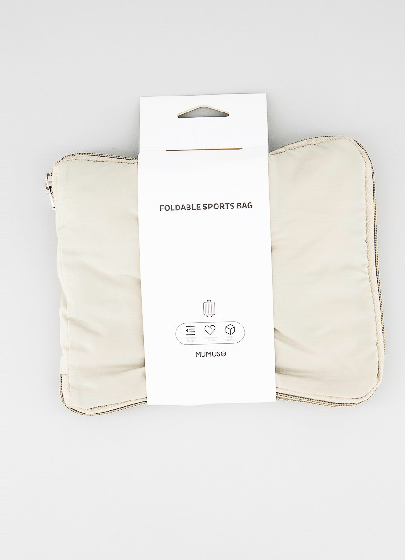 Foldable Sports Bag, Beige
