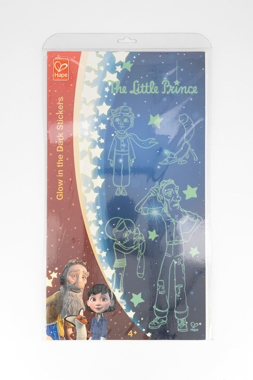 The Little Prince Glow In The Dark Stickers, Red/Blue