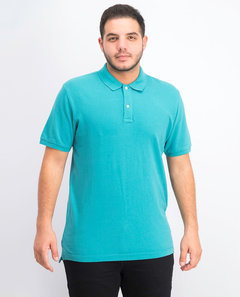 Men's Polo Shirt, Teal Green