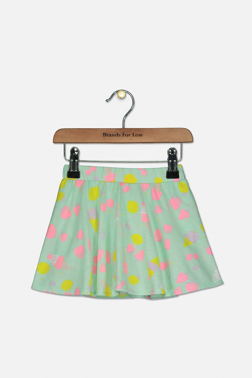 Toddler Girls Ice Cream-Print Scooter Skirt, Bay