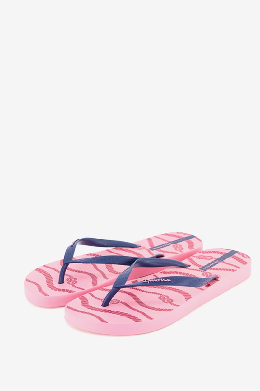 Women's Printed Slipper, Pink/Blue