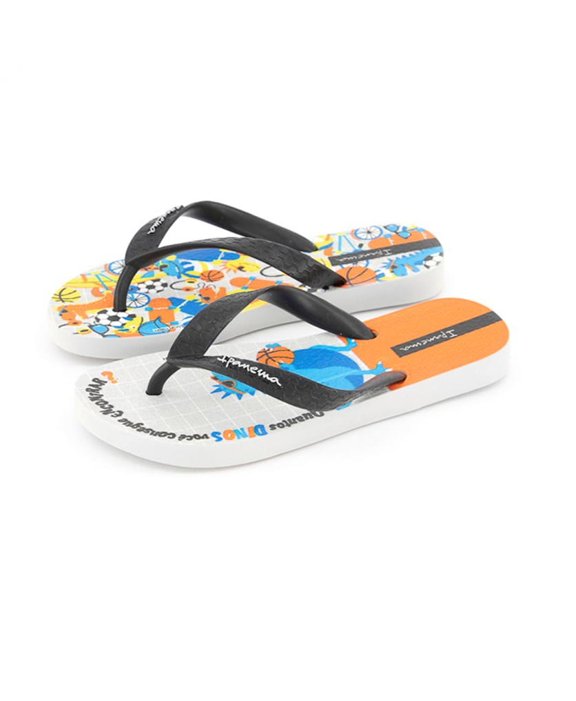 Kids Boys Themes Slipper, Grey/Black/Orange