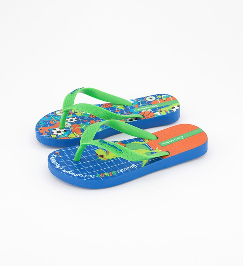 Kids Boy's Themes Slipper, Blue/Green/Red