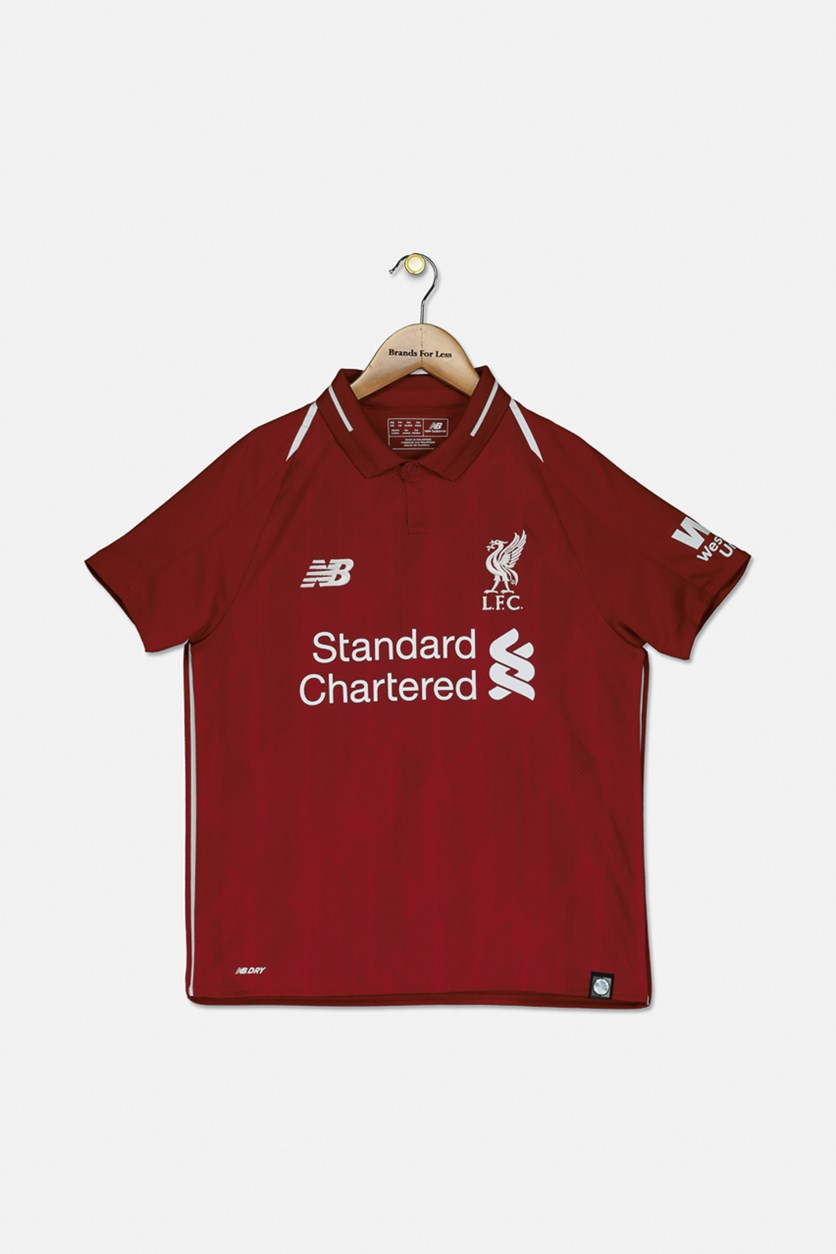 Youth Boys Liverpool Short Sleeve Home Jersey, Dark Red