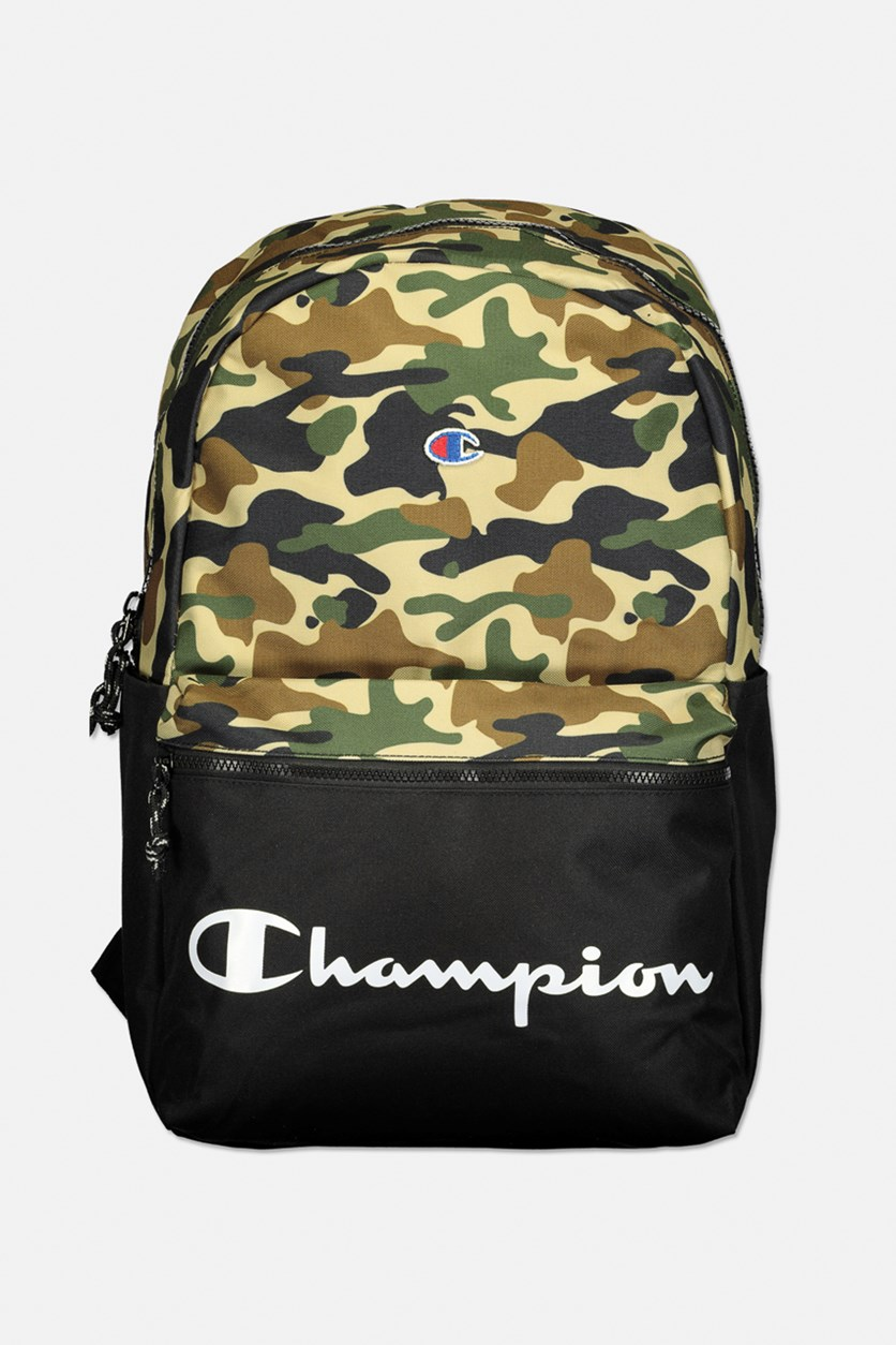 Manuscript Camo Backpack, Black/Green