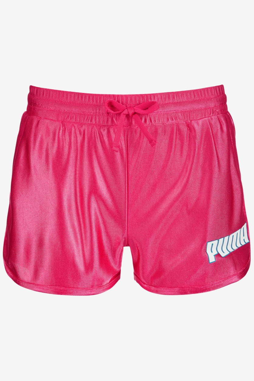 Big Girls Dazzle Fashion Shorts, Fuchsia Purple