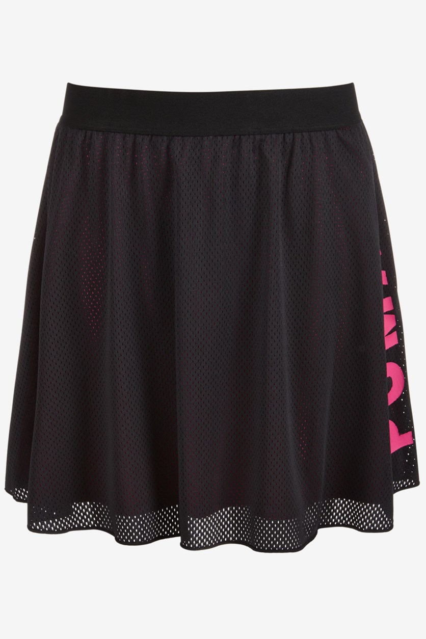 Girl's Fashion Mesh Skirt, Black