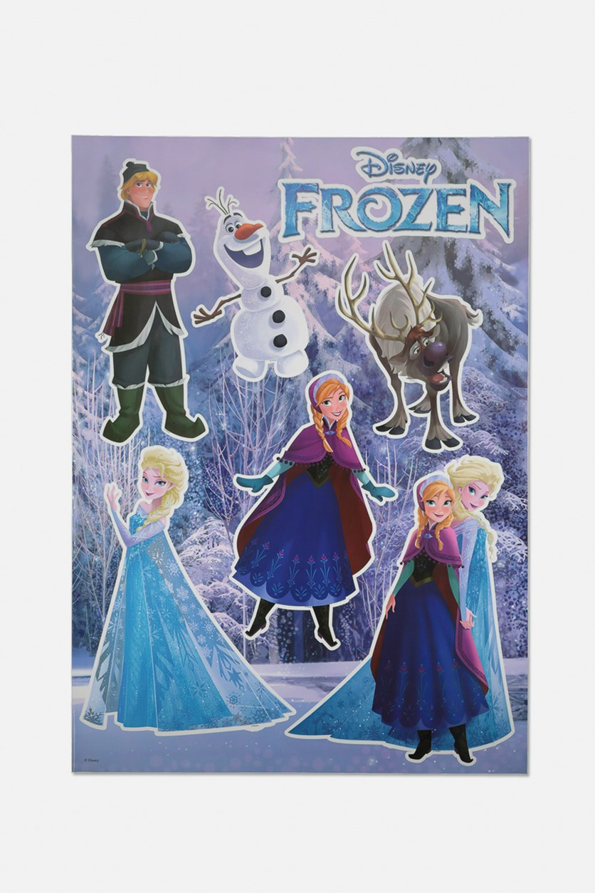 Frozen Wall Sticker, Blue Combo