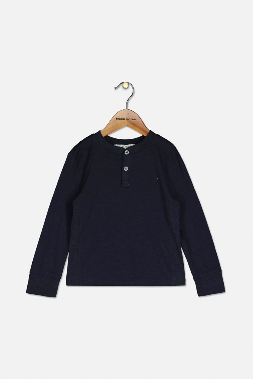 Baby Boy's Long Sleeve Tops, Navy