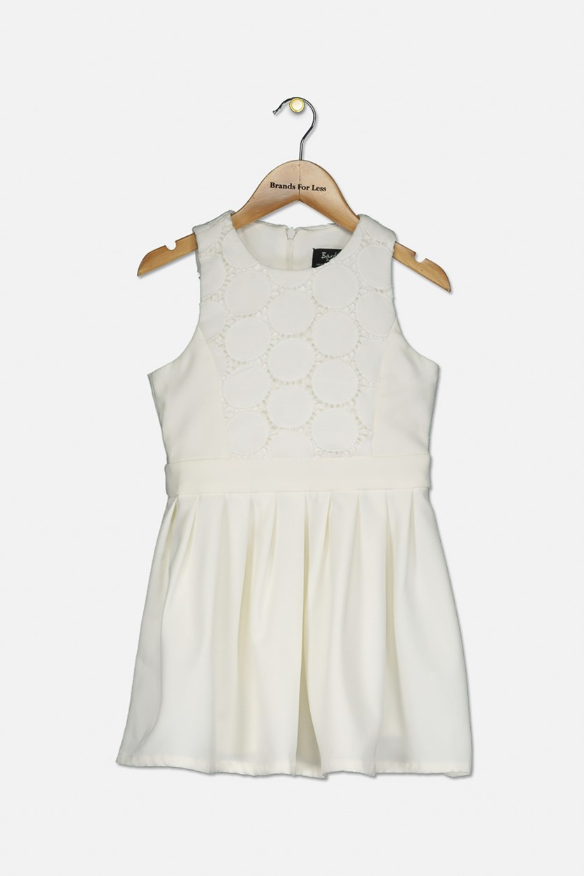 Girls' Miami Eyelet Fit-and-Flare Dress, Ivory