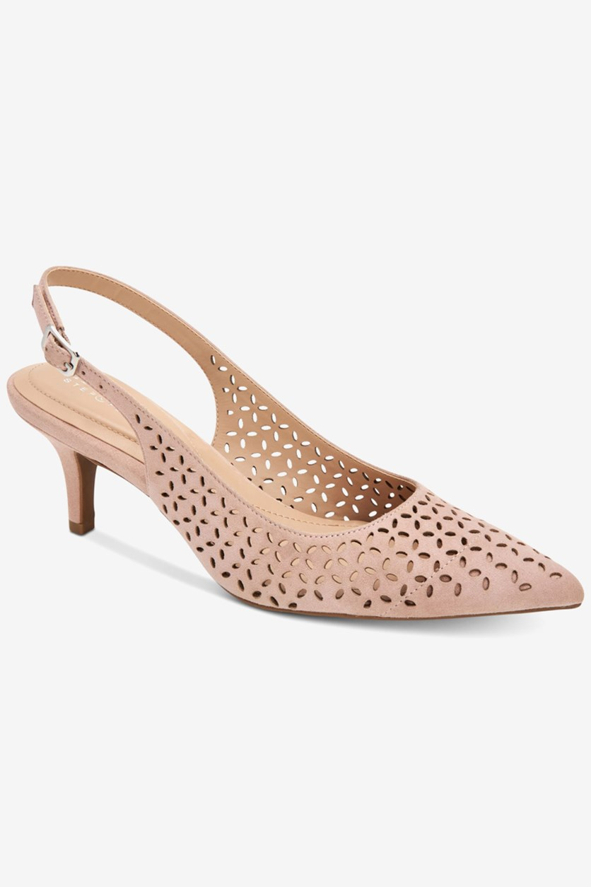 Women's Babbsy Pointed-Toe Slingback Pumps, Blush Perf
