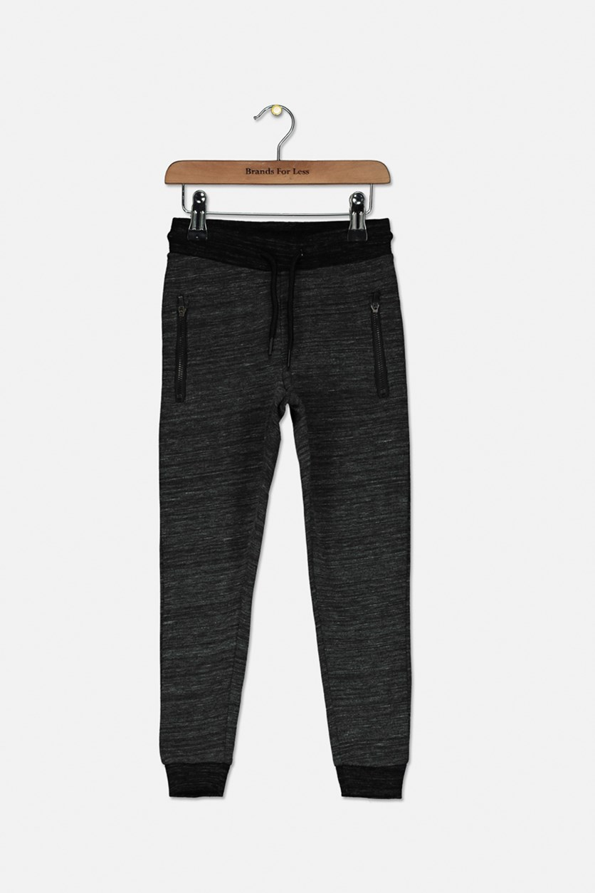 Marley Zipper Jogger Pant, Black/Grey