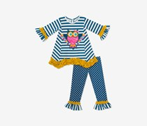 Baby Girls 2-Pc. Owl Tunic & Leggings Set, Navy