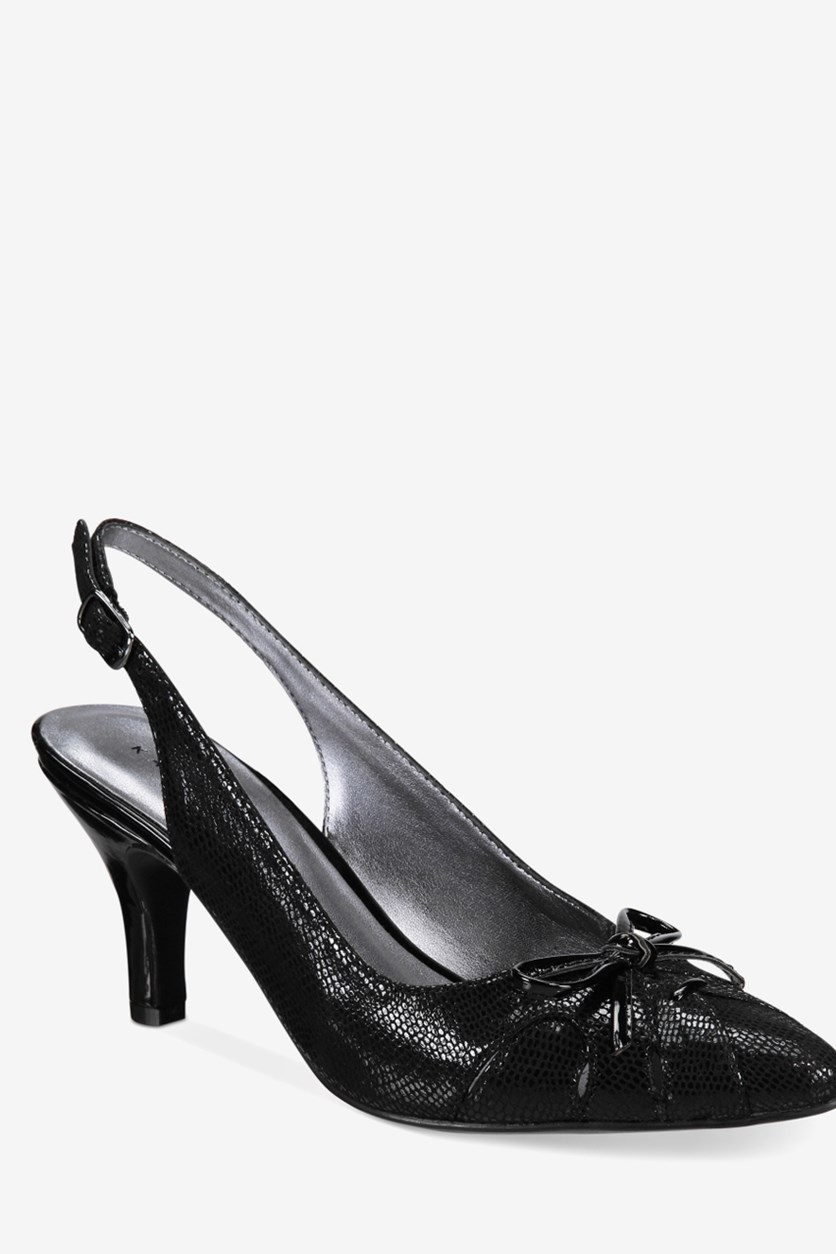 Women's Glenna Slingback Pumps, Black