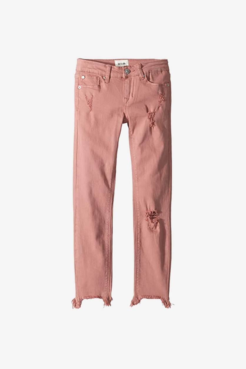 Girls' Wren Distressed Skinny Jeans, Mauve Glow