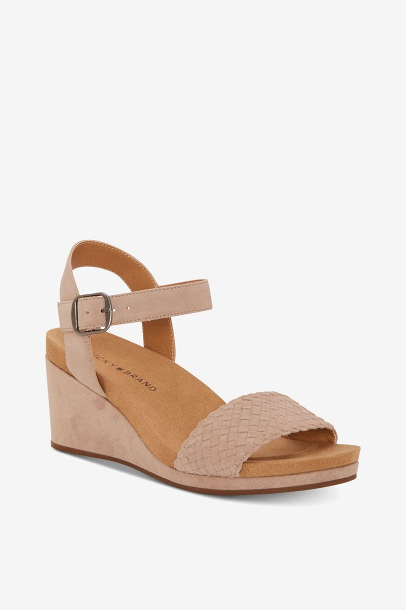 Women's Kenette Leather Open Toe Sandals, Tipsy Taupe