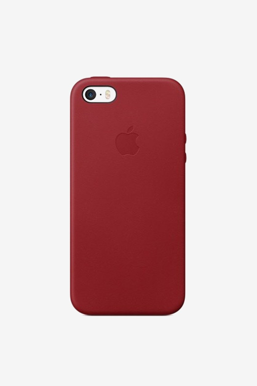 iPhone SE Leather Case, Red