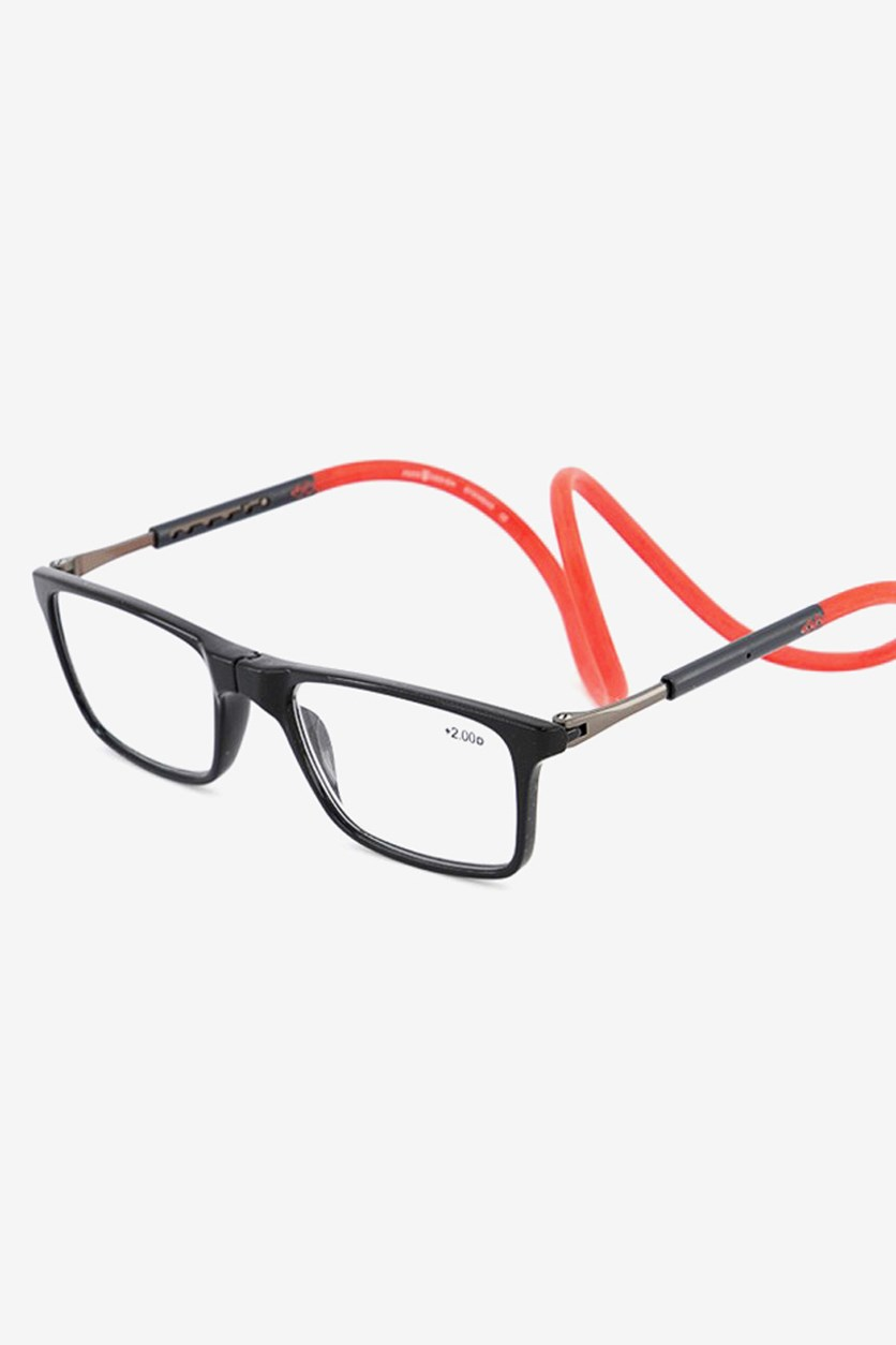 +1.50 D Unisex Reading Glasses, Black/Red