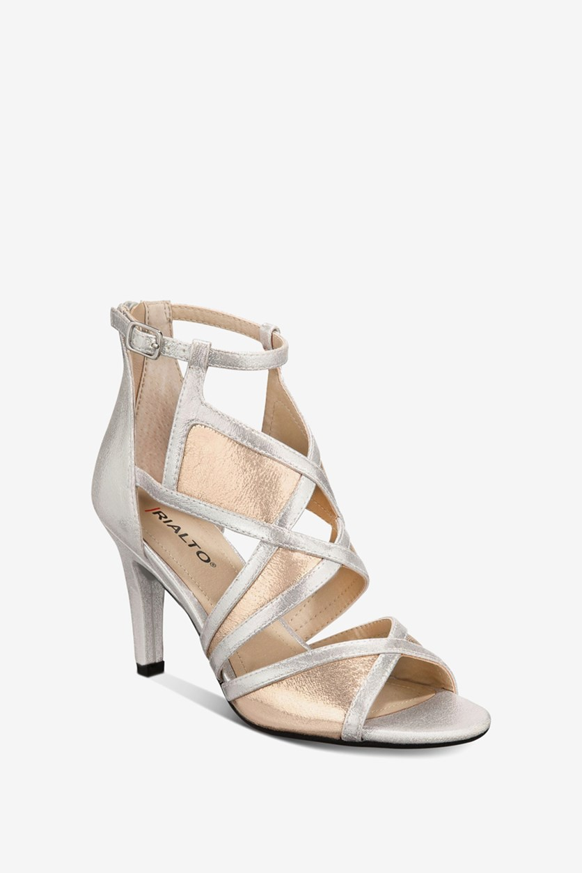 Women's Ria Colorblocked Dress Sandals, Silver/Gold